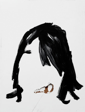 Richard Aldrich - Chief's Hair - 2005 - olio e cera su tavola - cm 50x37,5