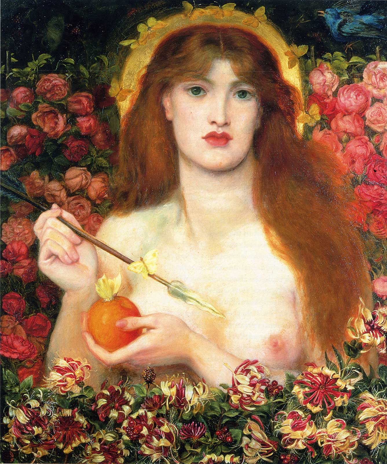 Dante Gabriel Rossetti - Venus Verticordia - 1864-68 - The Russell-Cotes Art Gallery and Museum, Bournemouth