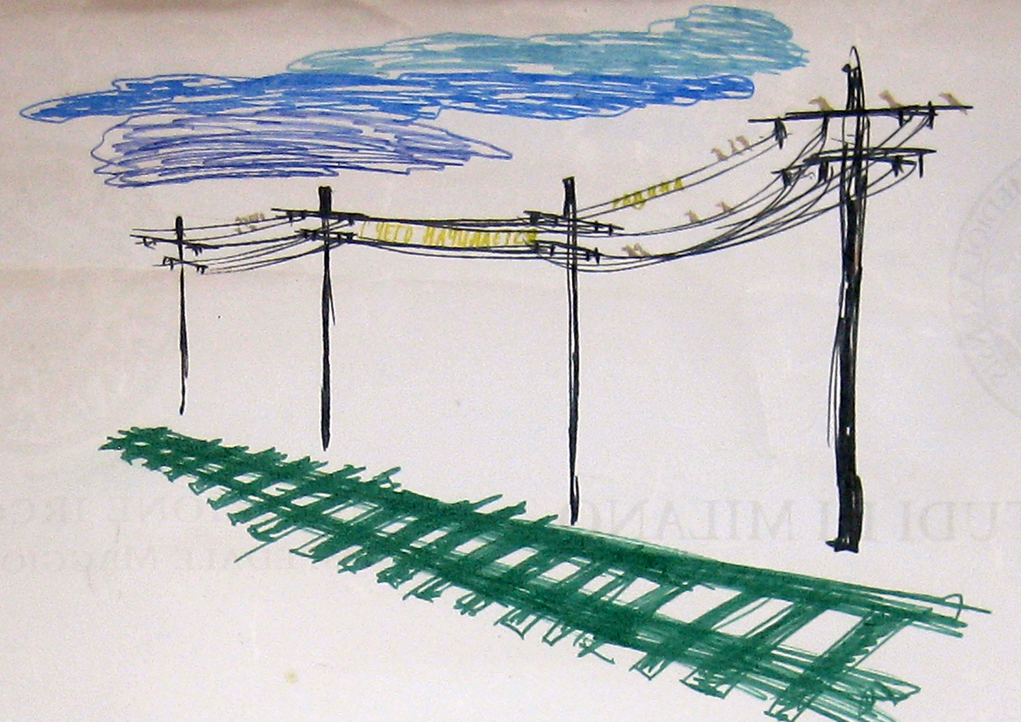 Olga Schigal - Bozzetto per Green Rails