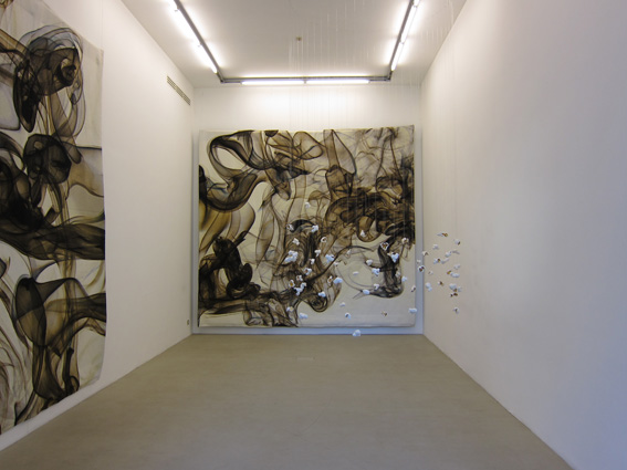 Pae White – A piece of the almost grey sky… - veduta della mostra presso la Galleria Kaufmann Repetto, Milano 2011