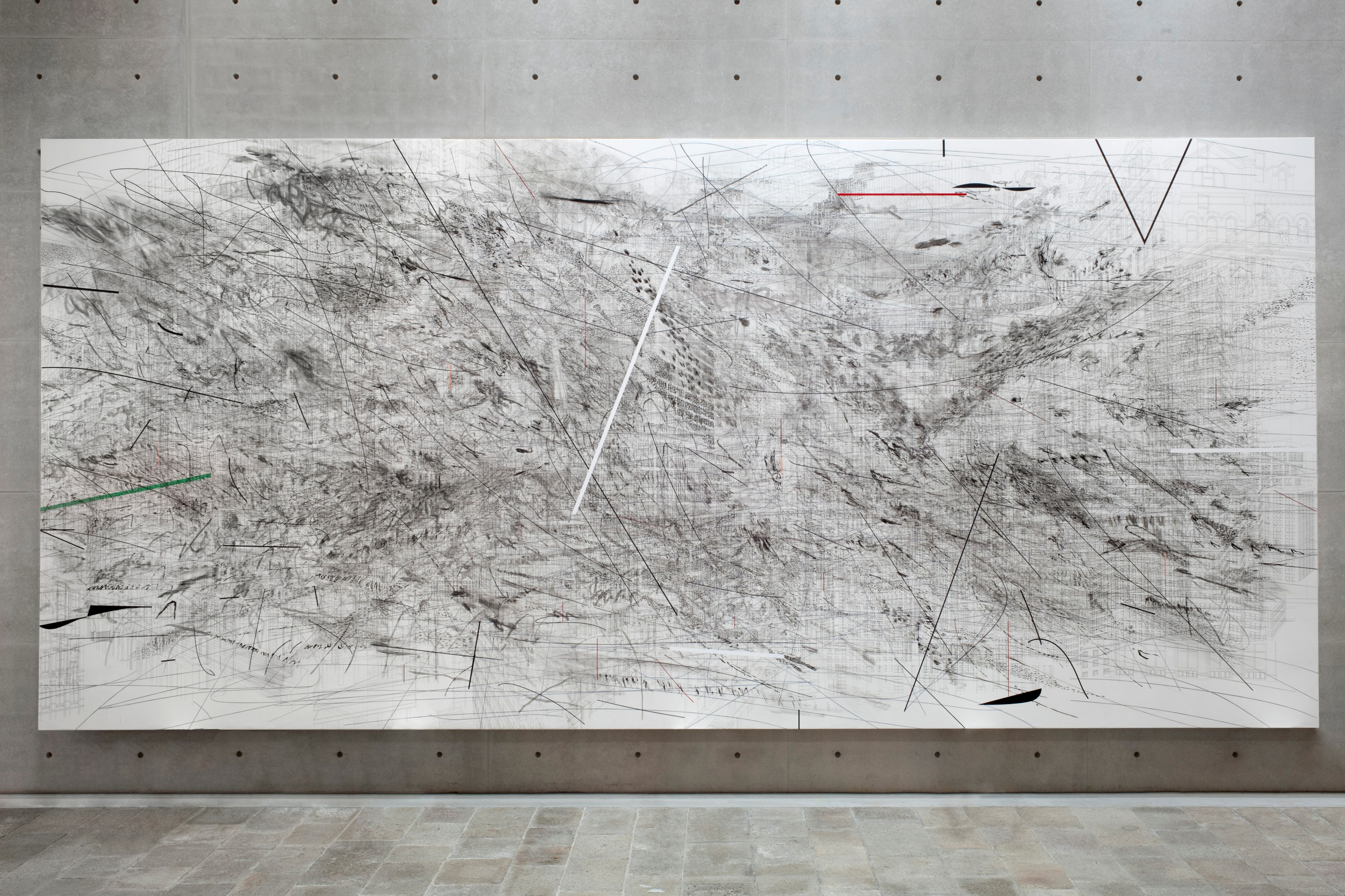 Julie Mehretu - Untitled - 2011 - Courtesy the artist and Carlier | Gebauer © Palazzo Grassi, photo: ORCH orsenigo_chemollo