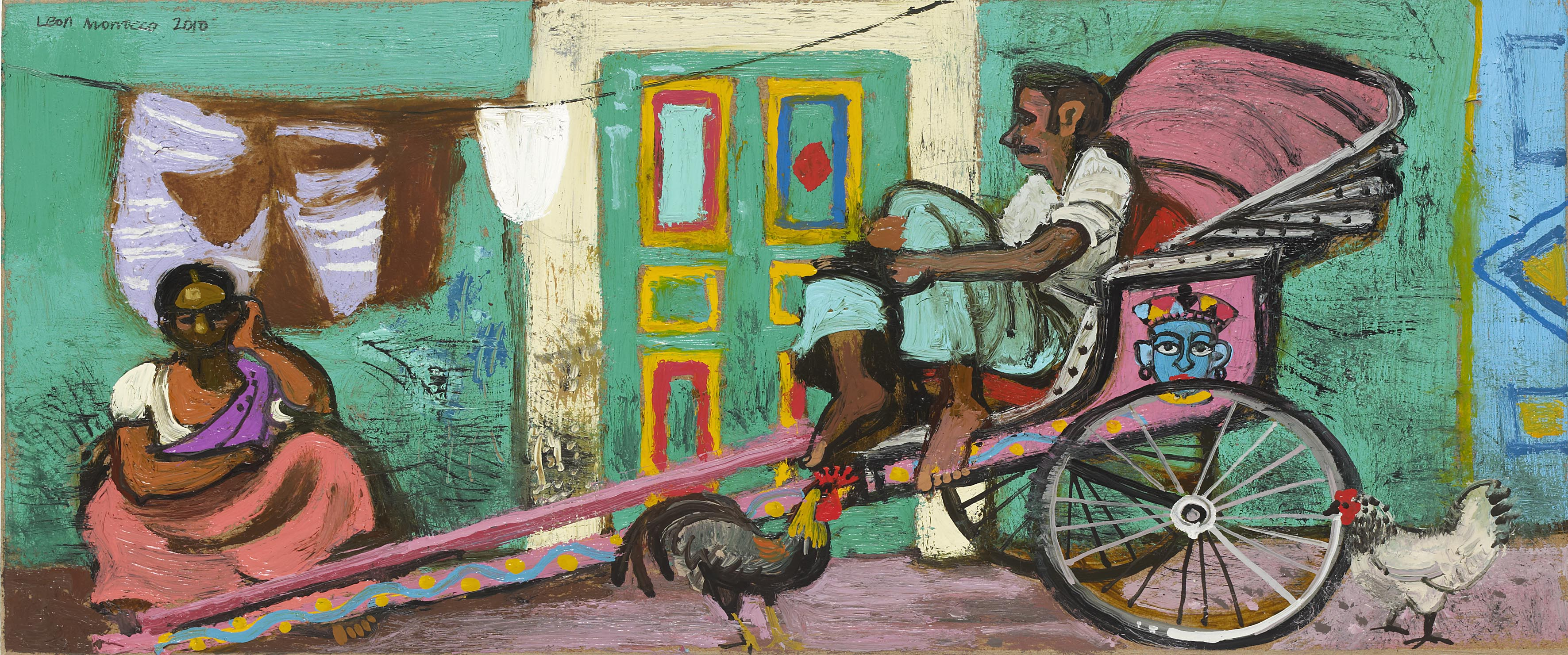 Leon Morrocco - Rickshaw Driver and his Wife, Kolkata – 2010