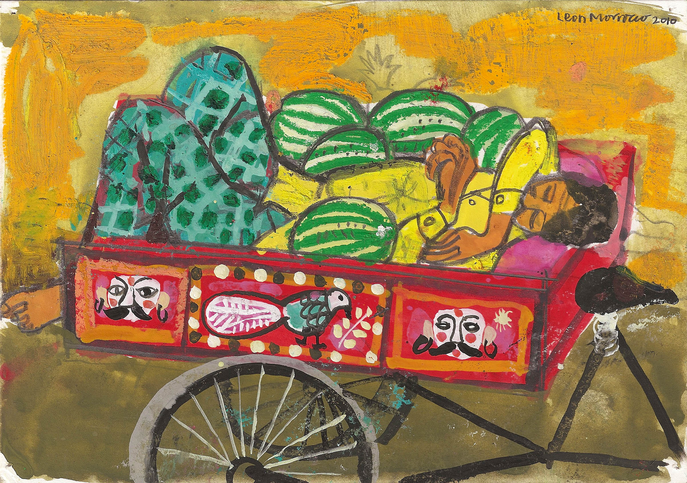 Leon Morrocco - Melon Seller sleeping, Madras – 2010
