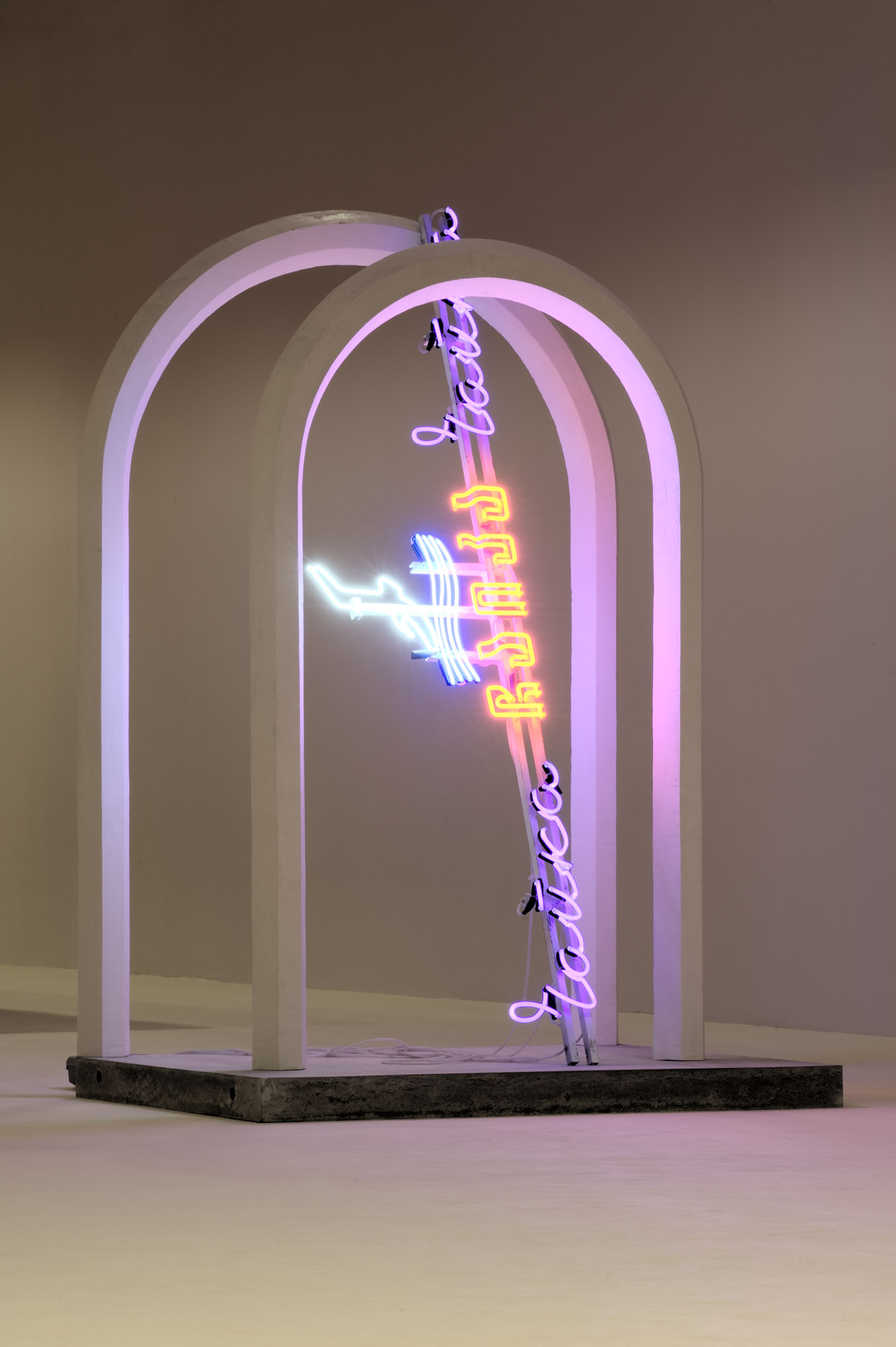 Andro Wekua - Neon with Arches - 2010-11 - photo Nils Klinger