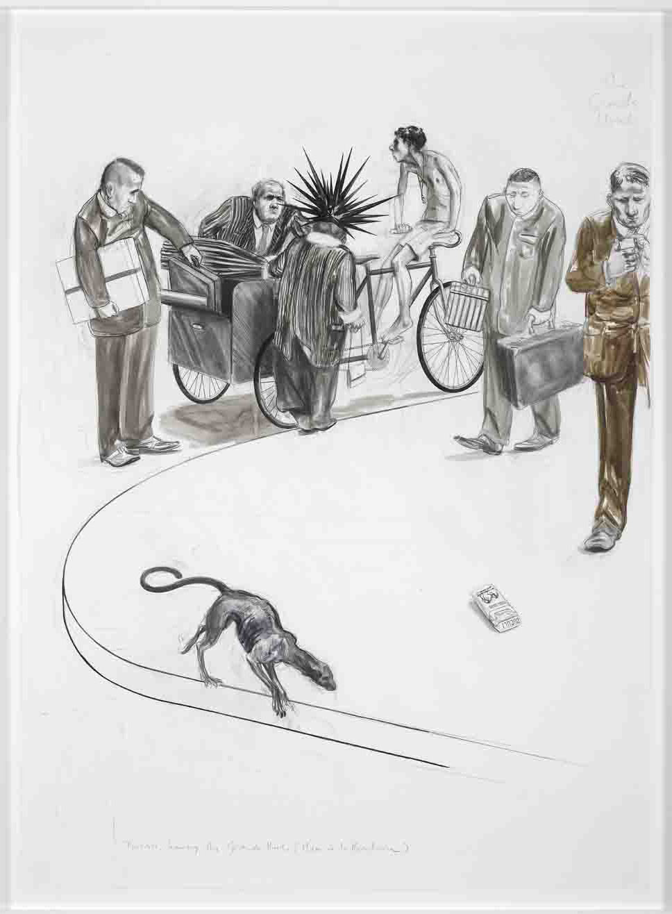 Charles Avery - Untitled (Tourists Leaving Grand Hotel) - 2011c - ourtesy Galleria S.A.L.E.S., Roma