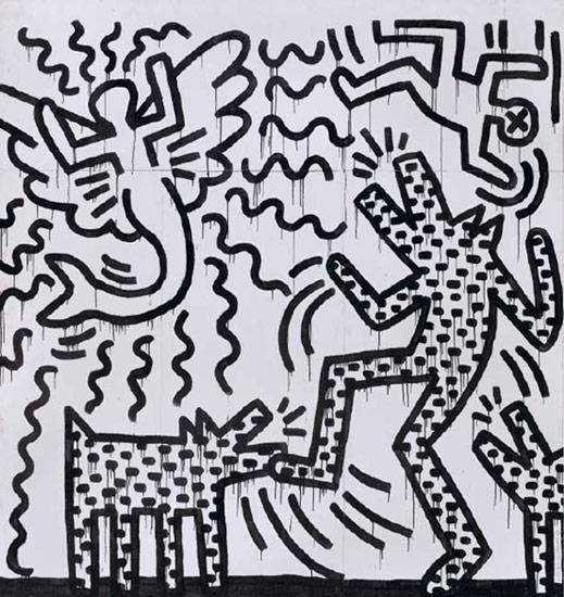 Keith Haring – Untitled – 1982 –courtesy Gruppo Geo Cairo, Montenotte (SV)