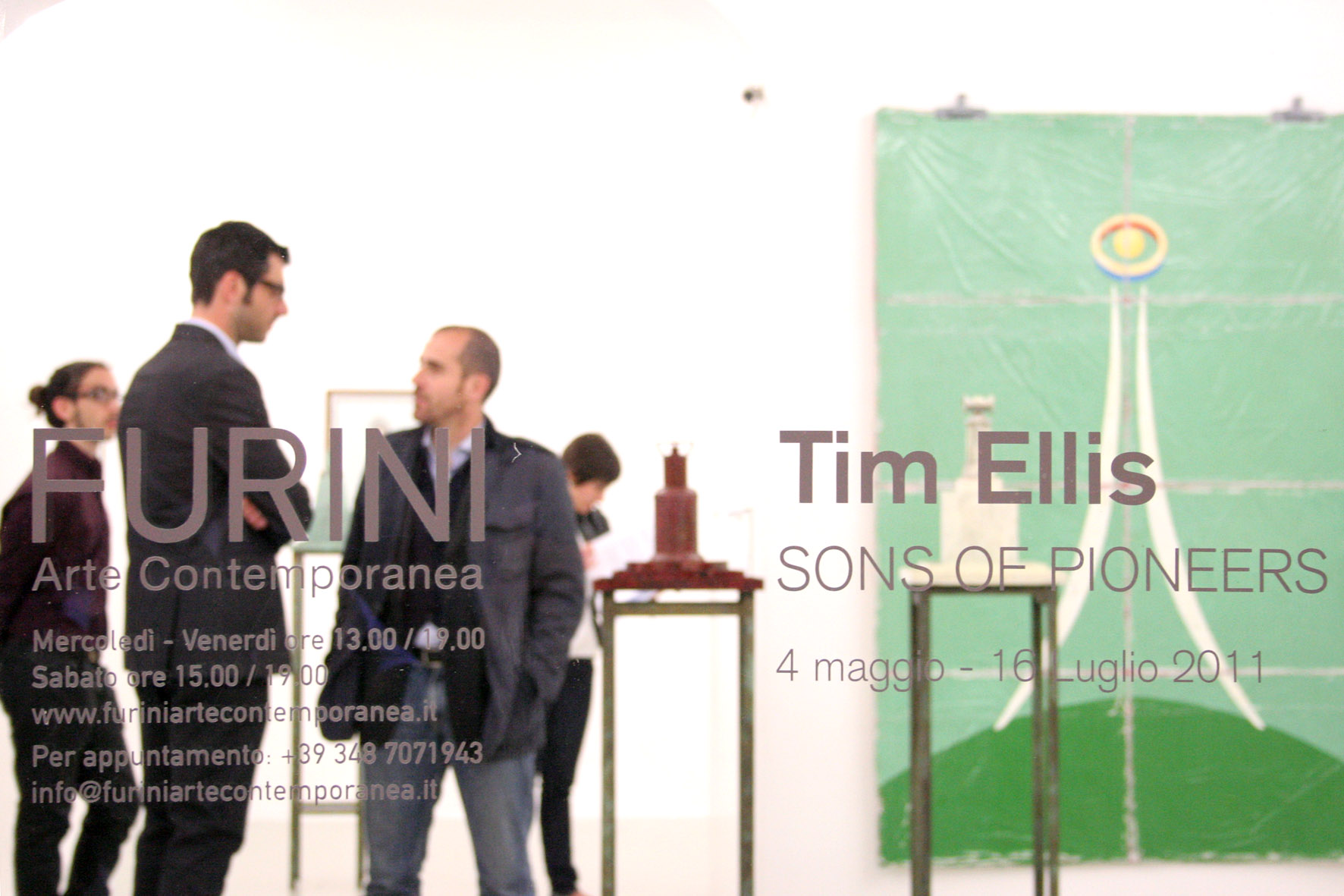 Tim Ellis – Sons of the Pioneers - veduta della mostra presso Furini Arte Contemporanea, Roma 2011