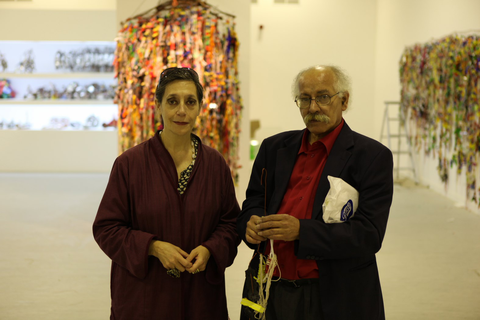 Hassan Sharif con Catherine David - photo ©The Flying House