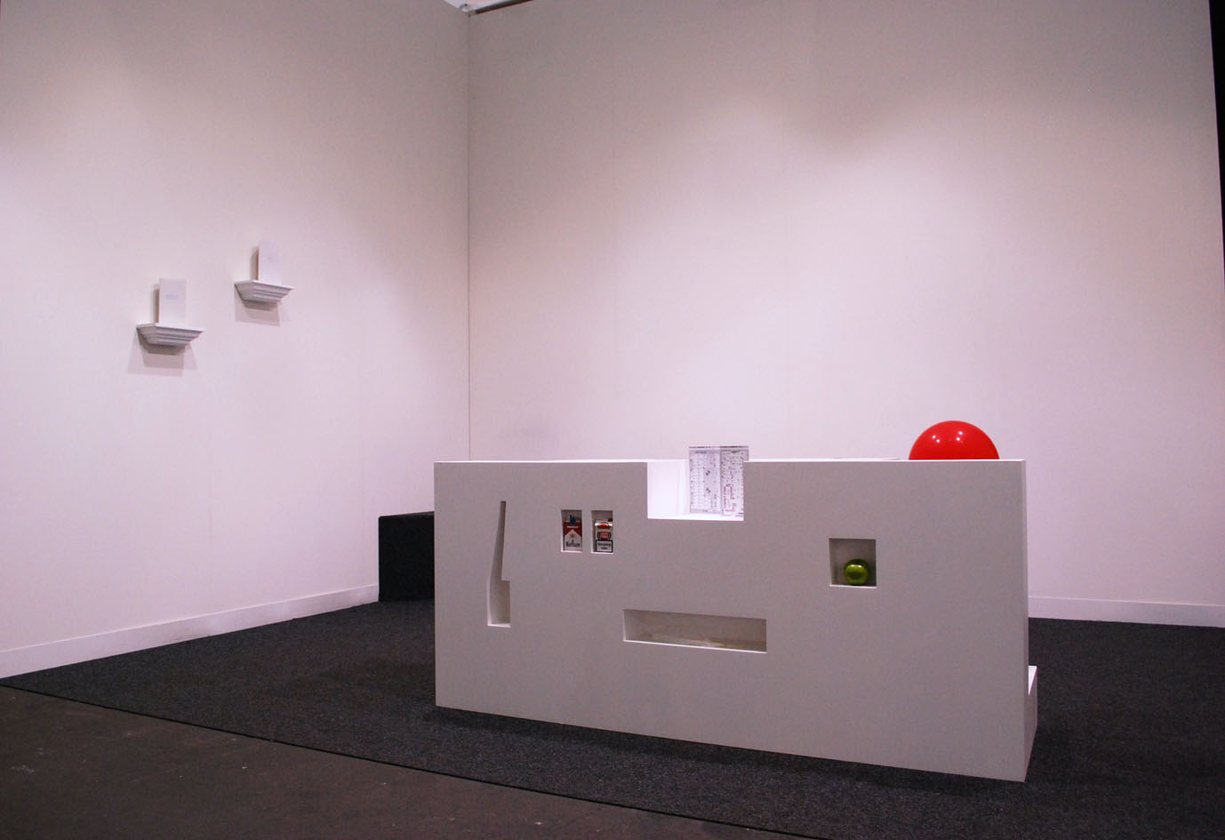Alexandre Singh, The dialogues of the objects I-V, 2011, installation view, Harris Lieberman, Nyc