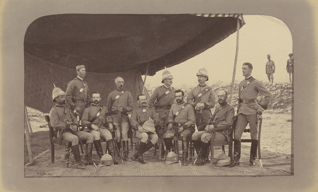 John Burke - Group of British Officers (Q.O.) Guides - 1879 - The J. Paul Getty Museum, Los Angeles