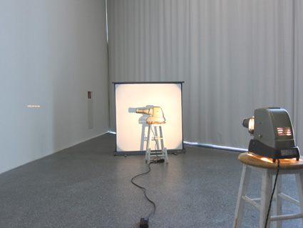 Image to be projected until it vanishes - veduta dell'allestimento presso Museion, Bolzano 2011