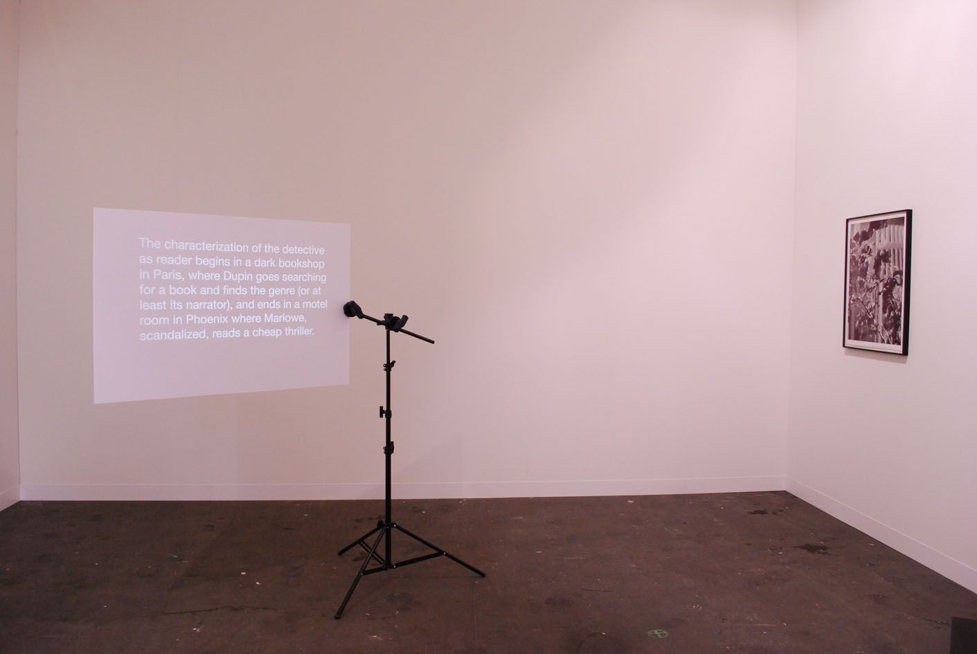 Alejandro Cesarco, The streets Were Dark with something more than night or closer I get to the end the more more I rewrite the beginning, 2011, installation view, Murray Guy, Nyc
