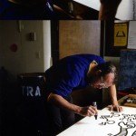 Keith Haring mentre disegna