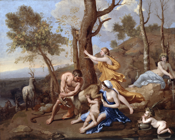 Nicolas Poussin, The Nurture of Jupiter (mid 1630s) © By permission of the Trustees of Dulwich Picture Gallery