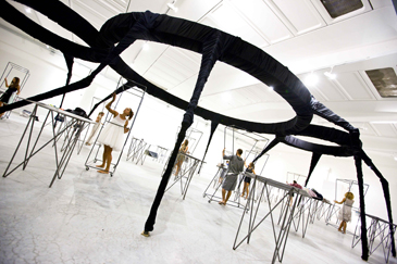 Michelangelo Pistoletto, The Third Paradise – The Spider Weaver, 2009. Installation view, Cittadellarte – Fondazione Pistoletto, Biella, 2009. Courtesy of Cittadellarte – Fondazione Pistoletto, Biella. Photo: E. Amici