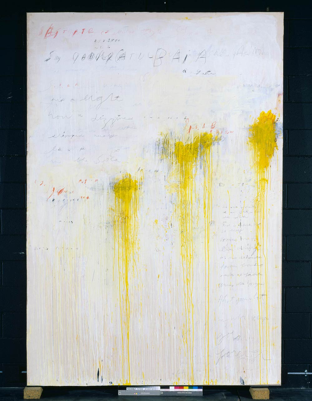 Cy Twombly, Quattro Stagioni: Estate, 1993-5, Acrylic and pencil on canvas, 3241 x 2250 x 67mm. Tate: Purchased with assistance from the American Fund for the Tate Gallery and Tate Members 2002, ©Tate, London, 2010, © Cy Twombly