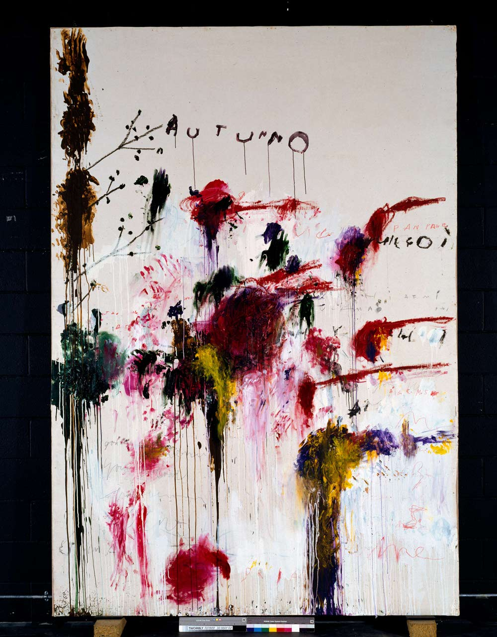 Cy Twombly, Quattro Stagioni: Autunno, 1993-5, Acrylic, oil, crayon and pencil on canvas, 3230 x 2254 x 67mm. Tate: Purchased with assistance from the American Fund for the Tate Gallery and Tate Members 2002, ©Tate, London, 2010, © Cy Twombly