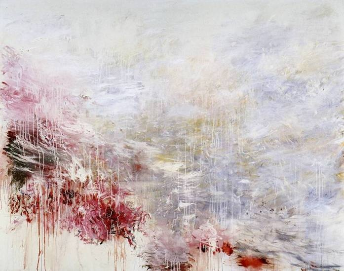 Cy Twombly, Hero and Leandro, 1985, 202 x 254cm, Private Collection, Courtesy Thomas Ammann Fine Art AG, Zurich, © Cy Twombly