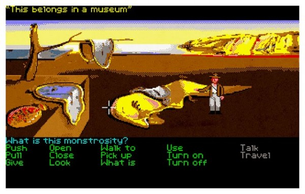 Indiana Jones and the Last Crusade: The Graphic Adventure (1989) and Salvador Dali's The Persistence of Memory (1931). Image credit: Aled Lewis
