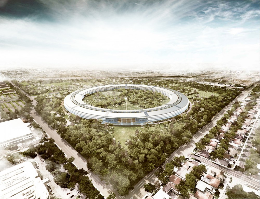Il progetto di Foster-partners per il campus Apple (© Foster + Partners, ARUP, Kier + Wright, Apple) 2