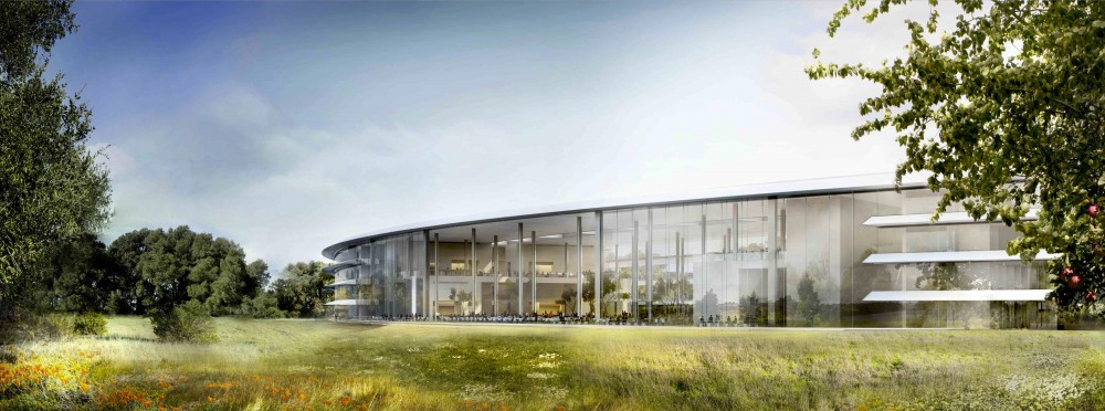 Il progetto di Foster-partners per il campus Apple (© Foster + Partners, ARUP, Kier + Wright, Apple) 5