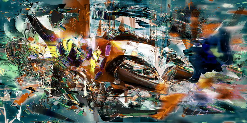 """Patryk Kuleta, """"Valentino Rossi, Front runner"""", 2011 - limited to 46"""