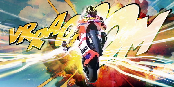"""Patryk Kuleta, """"Valentino Rossi, The Fight"""", 2011 - limited to 46"""