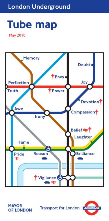 Barbara Kruger - tube map cover - May 2011