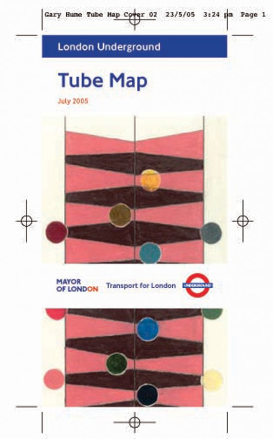 Gary Hume - Untitled - tube map cover - June 2005