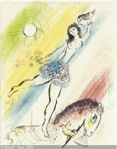 marc chagall - circus girl rider