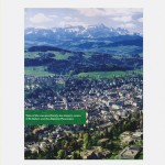 Pedro Neves Marques - View of the campus (front), the historic centre of St. Gallen and the Alpstein Mountains - 2011 - courtesy Galleria Umberto Di Marino, Napoli - photo Danilo Donzelli