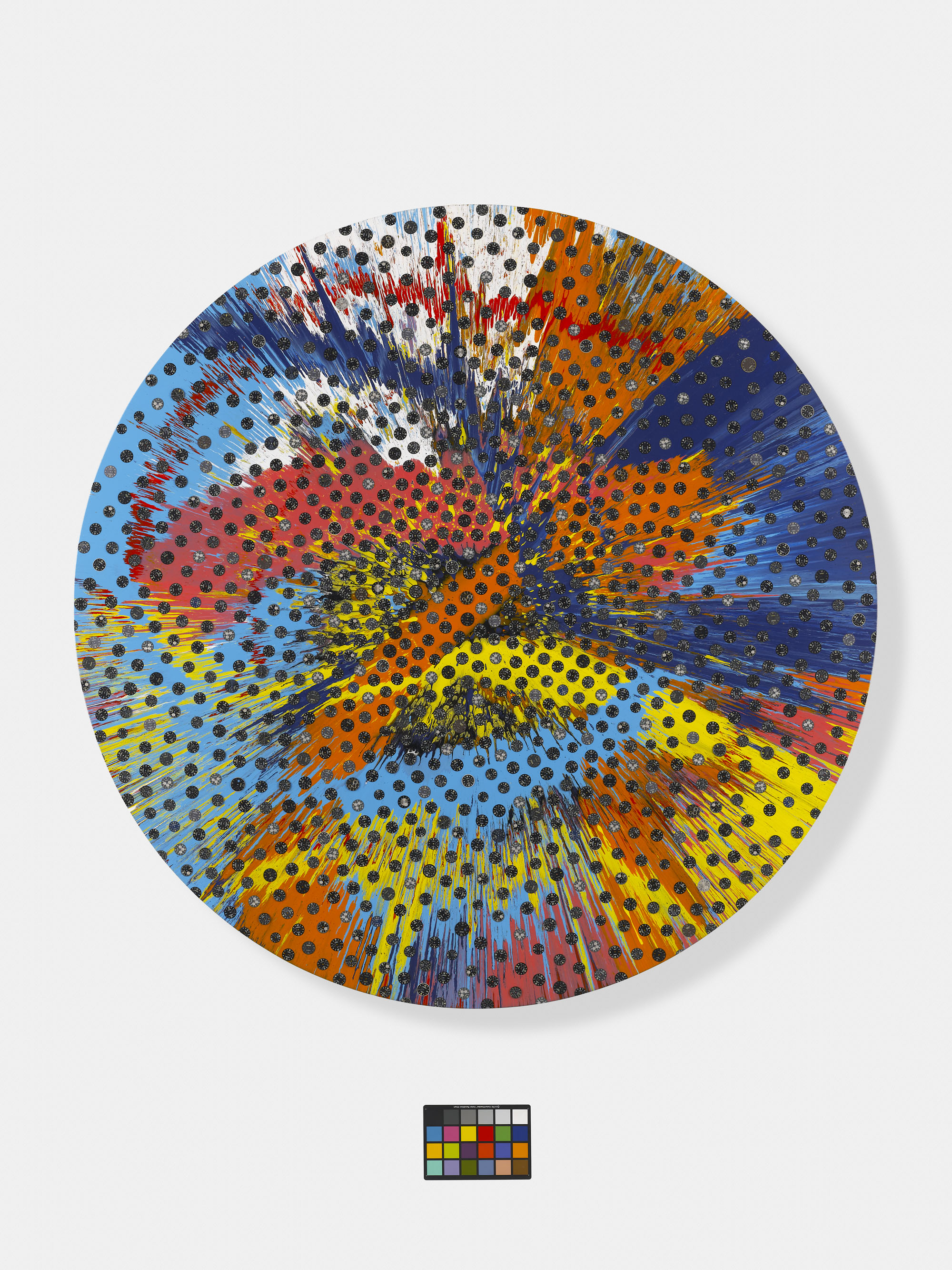 Damien Hirst - Beautiful Sunflower Panerai Painting - 2011 - photo Prudence Cuming Associates
