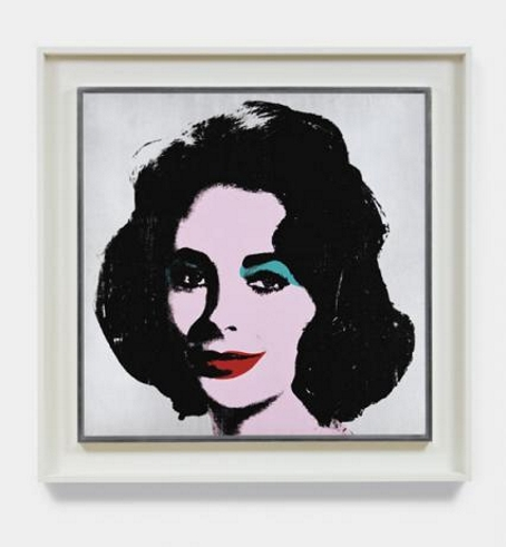 Andy Warhol - Silver Liz (Courtesy Christie's Images)