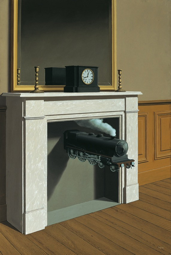 René Magritte – Il tempo trafitto – 1938 – The Art Institute Chicago @ VBK Wien, 2011 – in René Magritte all'Albertina