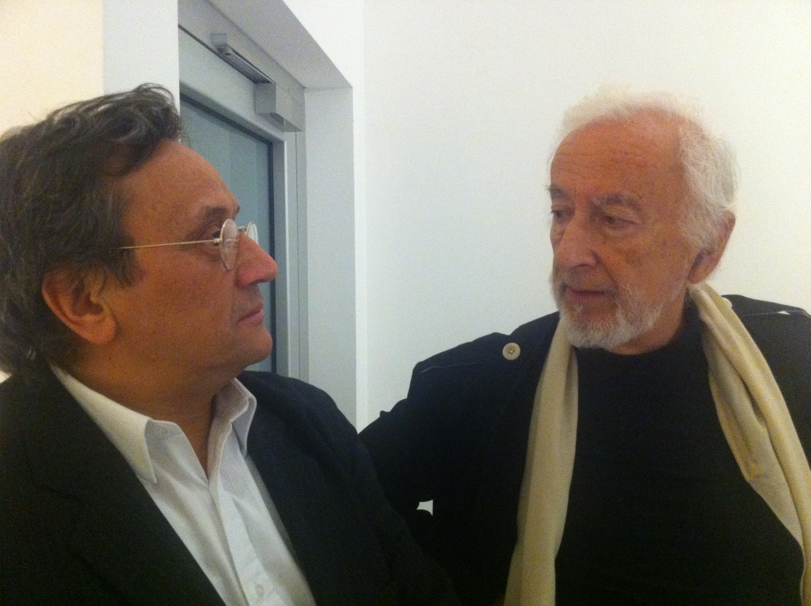 The curators, Italo Tomassoni e Giacinto Di Pietrantonio