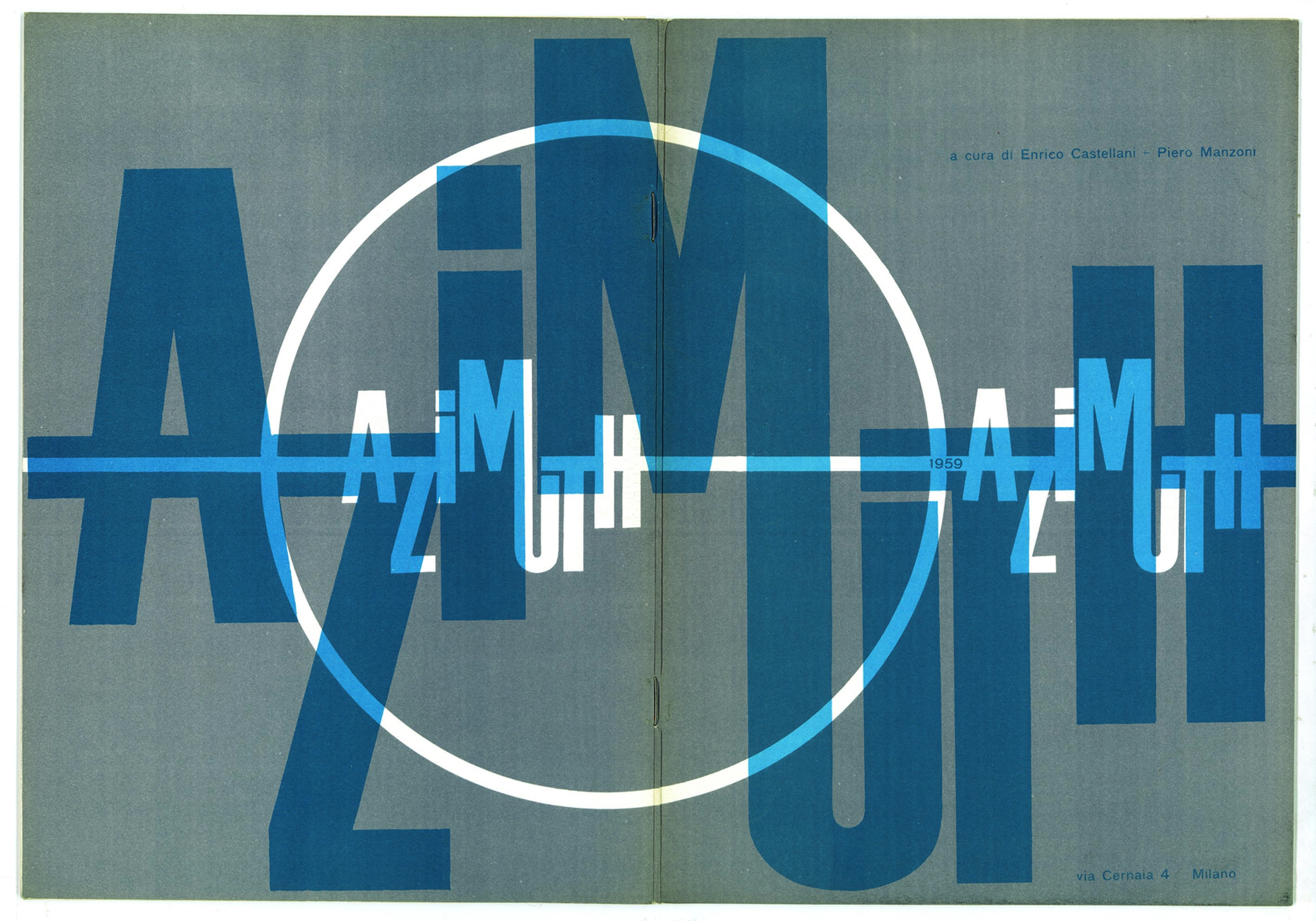 Cover of the first issue of the Azimuthr, September 1959 Courtesy Fondazione Piero Manzoni, Milan