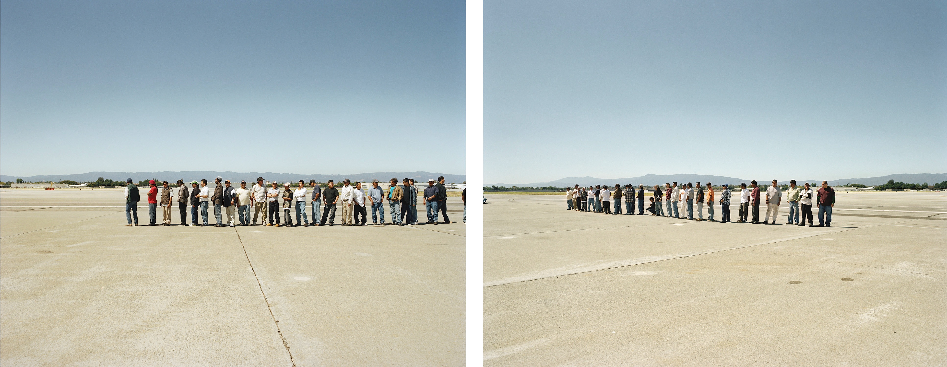 Adrian Paci - The line (diptych)