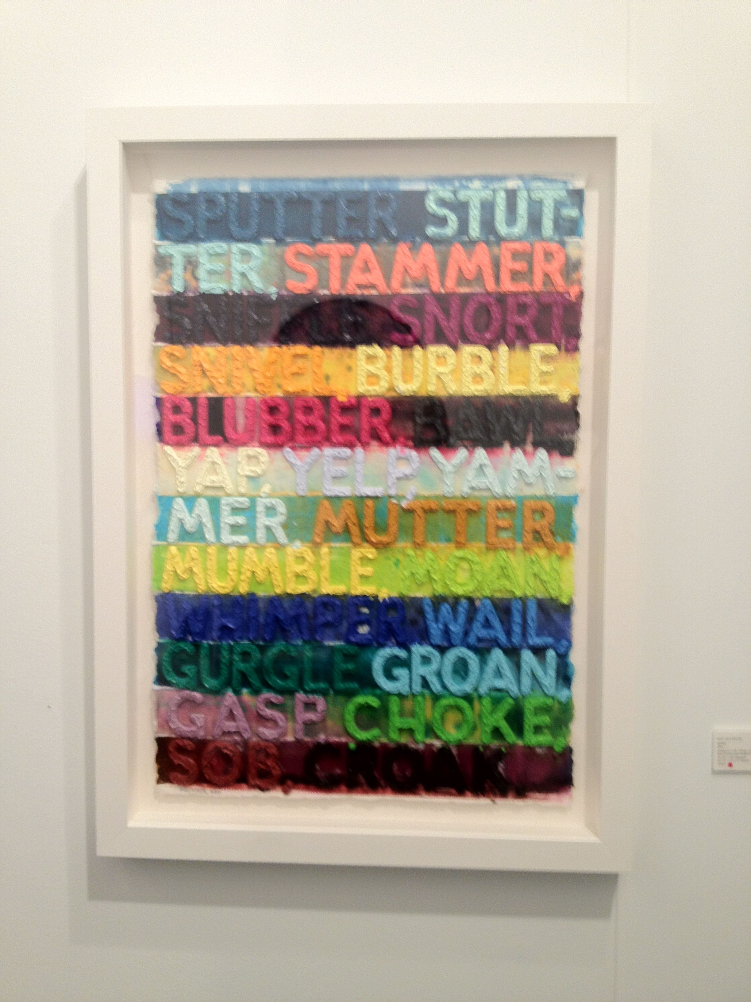 Art Los Angeles Contemporary. Mel Bochner, Quint Contamporary Art Gallery