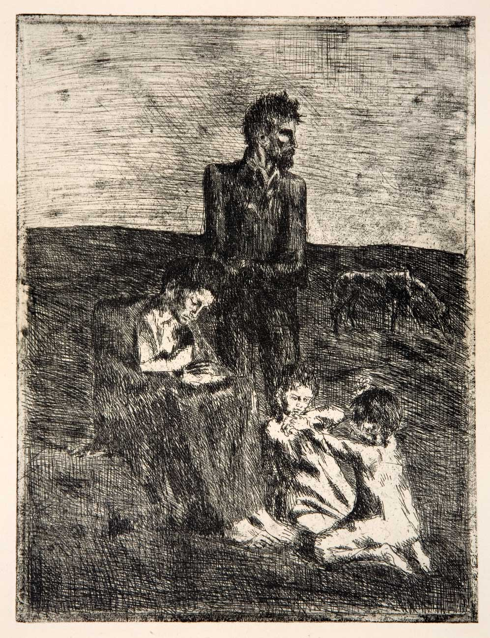 Pablo Picasso - I poveri - 1905 - incisione all'acquaforte