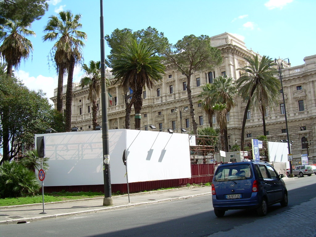 Il cantiere a Piazza Cavour