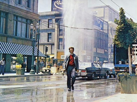 Clint Eastwood in Ispettore Callaghan il caso Scorpio è tuo (Dirty Harry, Don Siegel 1971)