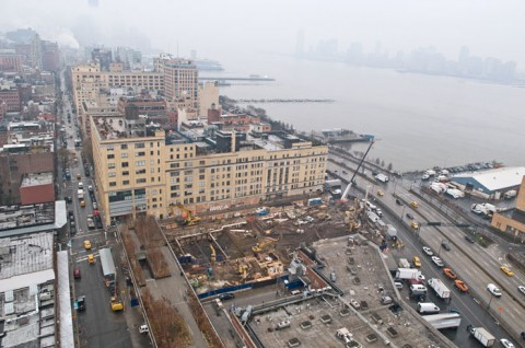 Il cantiere del Whitney - foto Timothy Schenck - courtesy Friend of The High  Line