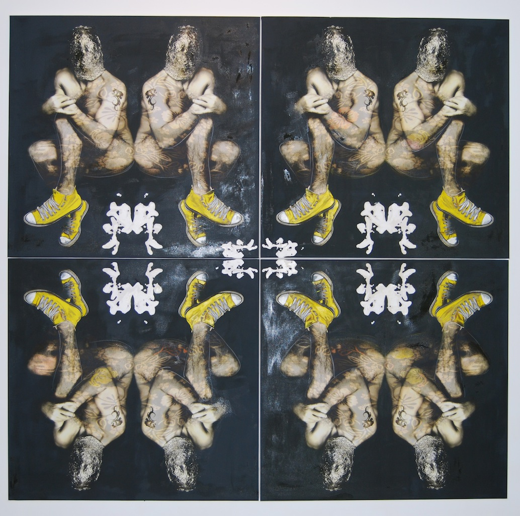 Monticelli & Pagone, Re evolution - 2008-2009, tecnica mista su tela - 213 x 205 cm – courtesy Galleria Numen, Benevento