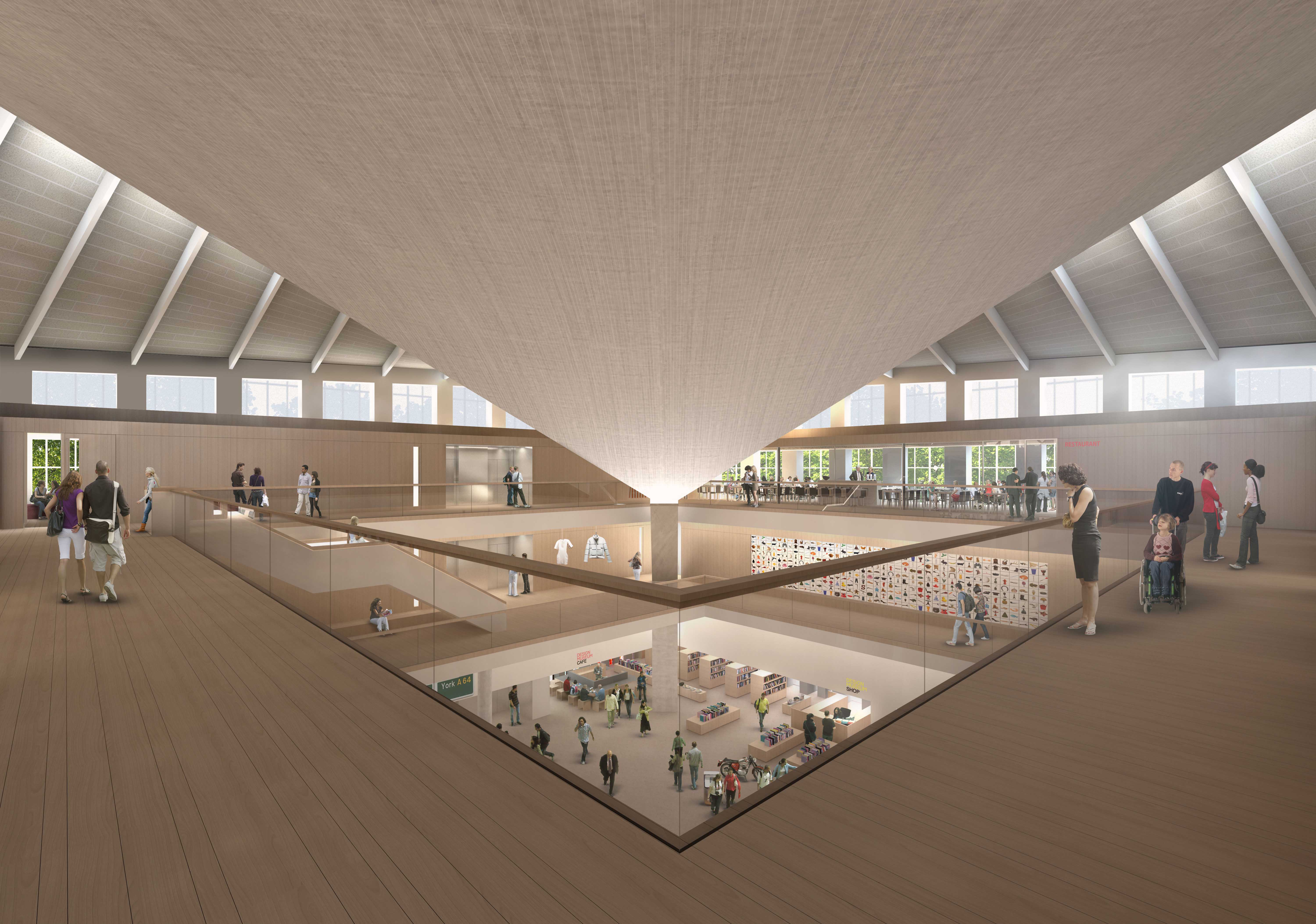 New Design Museum, Second Floor. John Pawson Ltd Image by Alex Morris Visualisation_2