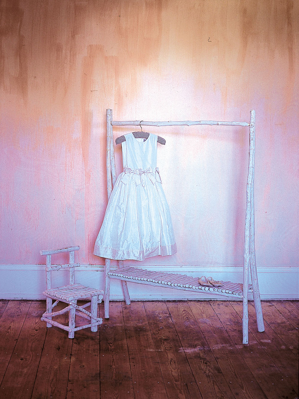 POSHSalvage - Faux-Driftwood Child Clothes Rail by Emily Readett Bayley