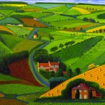 David Hockney - The Road across the Wolds - 1997 - courtesy Mrs. Margaret Silver