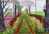 David Hockney - A Closer Winter Tunnel - febbraio-marzo 2006 - courtesy Collection Art Gallery New South Wales, Sydney