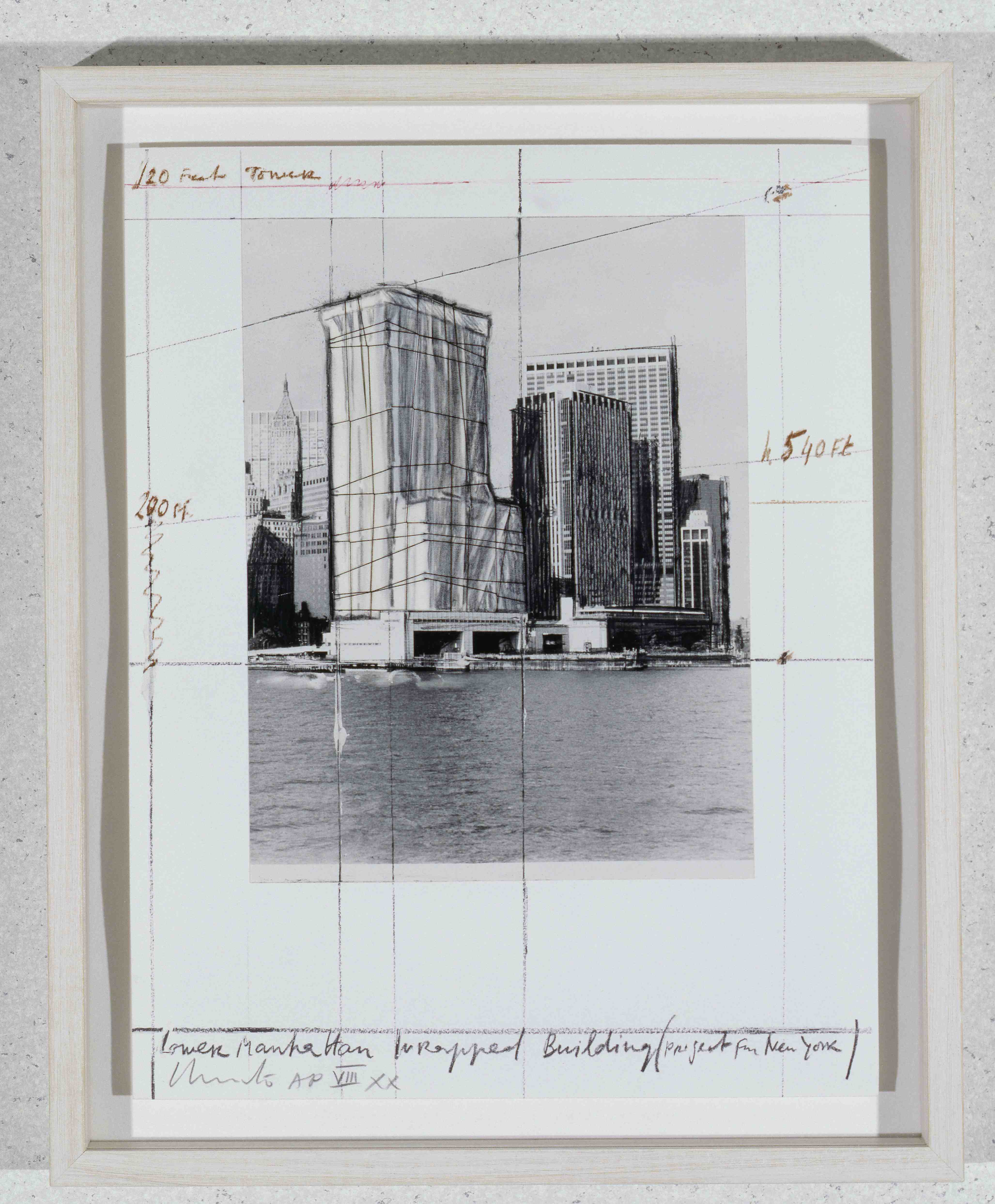 Christo - Lower Manhattan wrapped building - 1985 - Art Collection HypoVereinsbank - photo Jeanne-Claude Christo