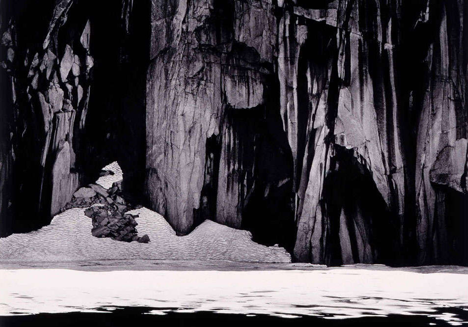 "Ansel Adams, ""Frozen Lake and Cliffs,The Sierra Nevada, Sequoia National Park, California"", 1932 - courtesy Turtle Bay Exploration Park, Redding, CA ©Ansel Adams"