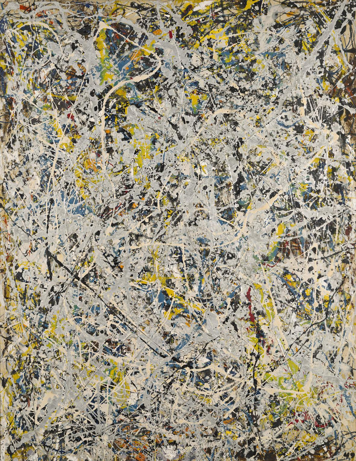 Jackson Pollock - Number 9 - 1949 - olio su tela - Hartford, Wadsworth Atheneum Museum of Art